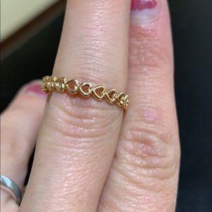 Linked love pandora ring rose
